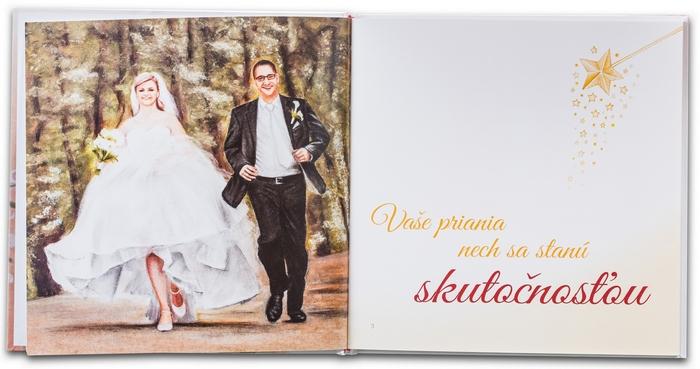 Svadobná kniha prianí - ukážka ilustrácií