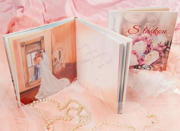 12. Ukážka z už vyplnenej knihy po svadbe