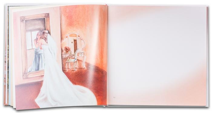 2. Svadobná kniha prianí - Príprava nevesty - ukážka ilustrácií
